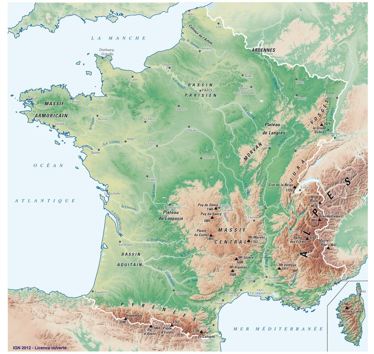 carte de france ign Fonds de carte IGN (avec images) | Carte ign, Carte de france