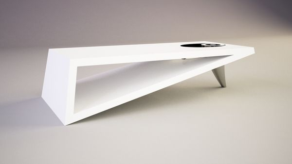 contemporary coffee tables | modern triangle coffee table orea
