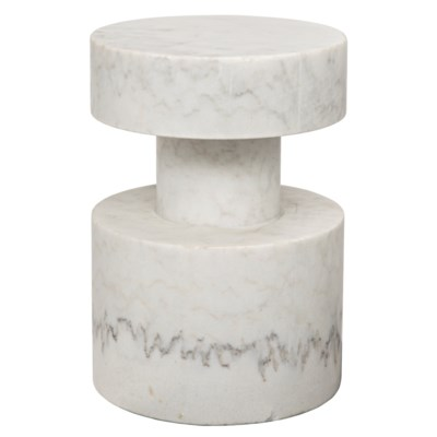 Best Mamud Side Table White Stone Accent Tables Side Table 400 x 300
