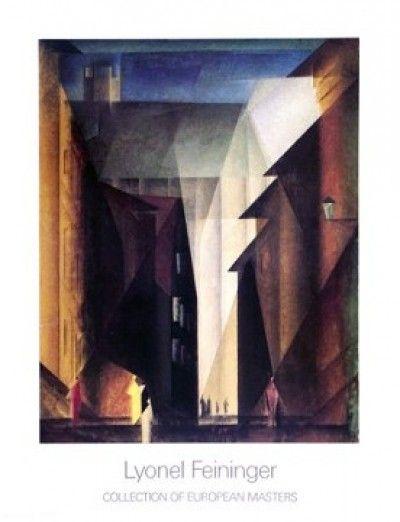 Lyonel Feininger, Barfusserkirche 1924 (Häuser, Architektur - wohnzimmer bilder abstrakt