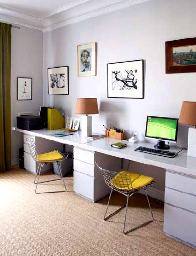 decoraç u00e3o mesa de escritório ideias escritório Decoraç u00e3o escritório, Dicas de decoraç u00e3o e  -> Decoração Simples Para Escritório Pequeno