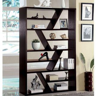 Furniture of America Emize Espresso Open Display Shelf $289 ...