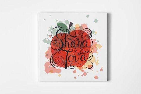 Shana Tova Card Template by TrueLettering on @creativemarket #shanatovacards