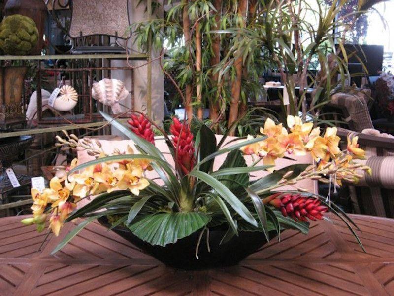 Arrangement Of Tropical Decor