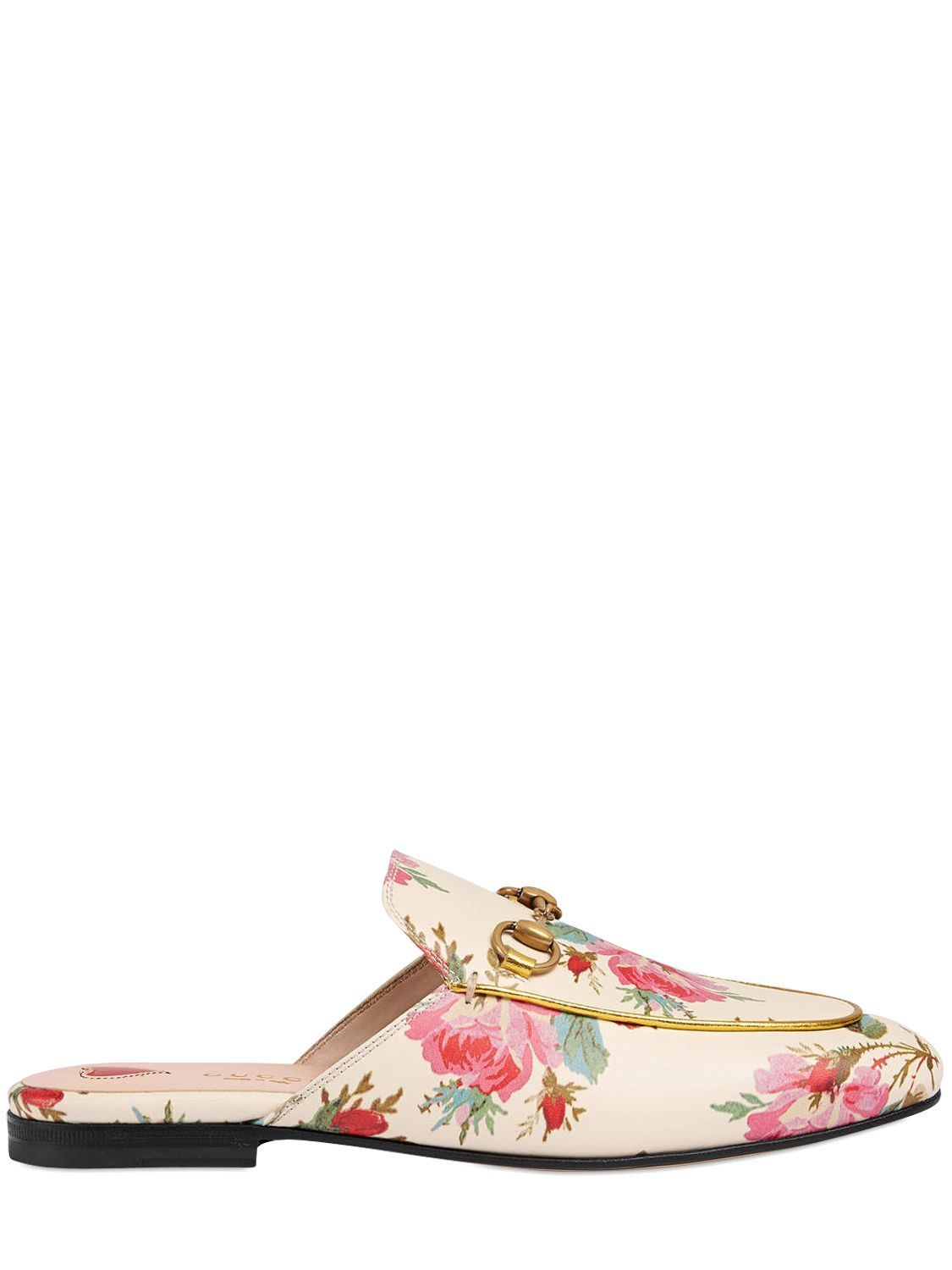 LKor4THI51 10MM PRINCETOWN FLORAL LEATHER MULES