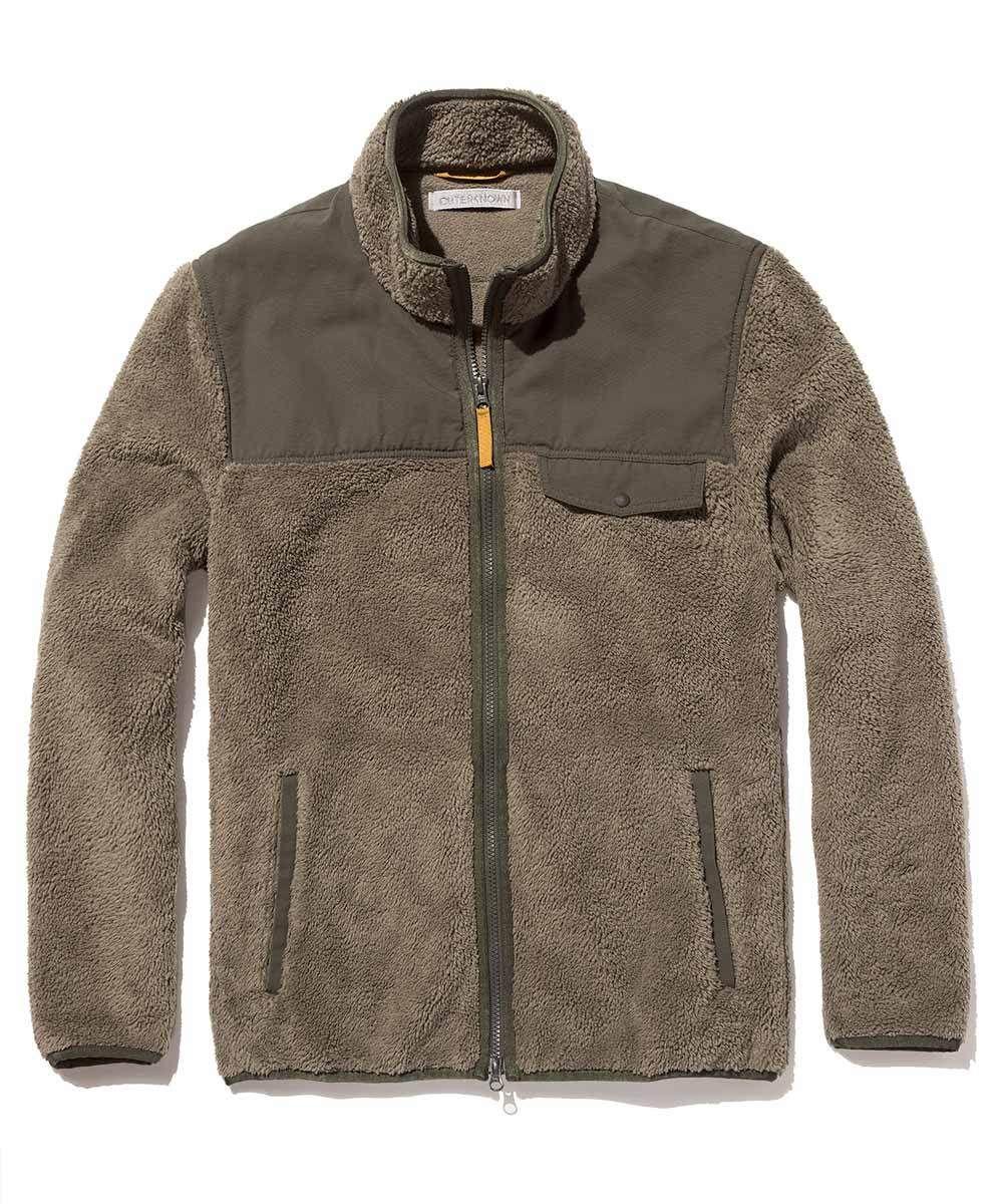 Dusk fleece jacket sage s fal mens knit pinterest