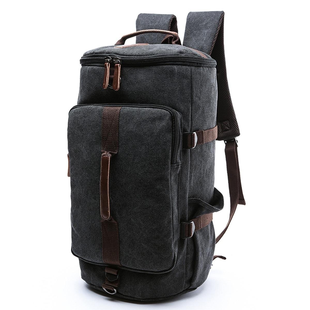33beecdec Dasein Vintage Unisex Canvas Multi-purpose Bag for Travel or Hiking (Black)