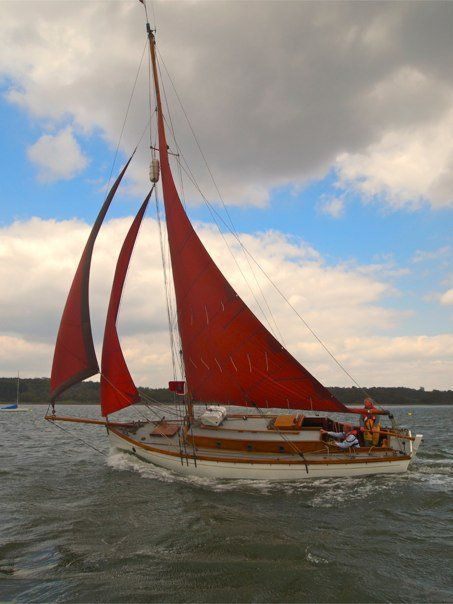 The Nancy on the river Orwell, photo from the Nancy Blackett Preservation Trust.