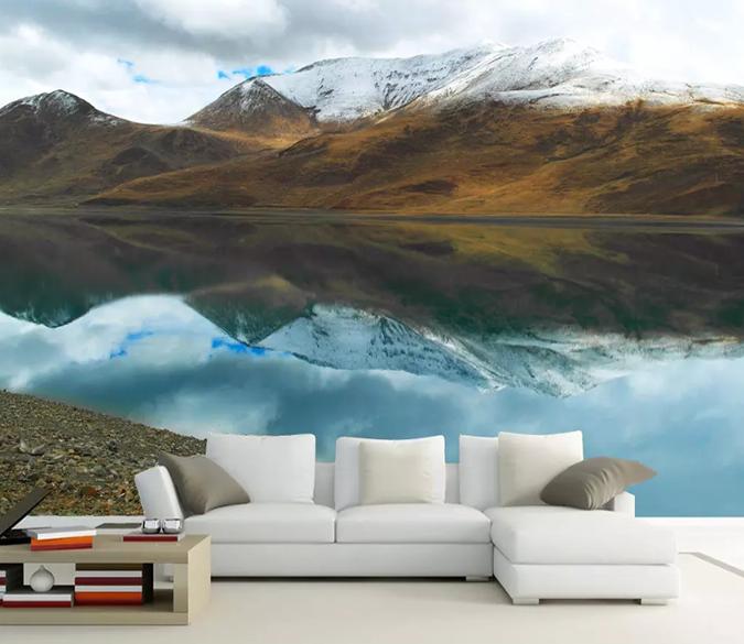 3d Snow Mountain River 1048 Aj Wallpaper Wall Murals 3d Wall Murals 3d Wall