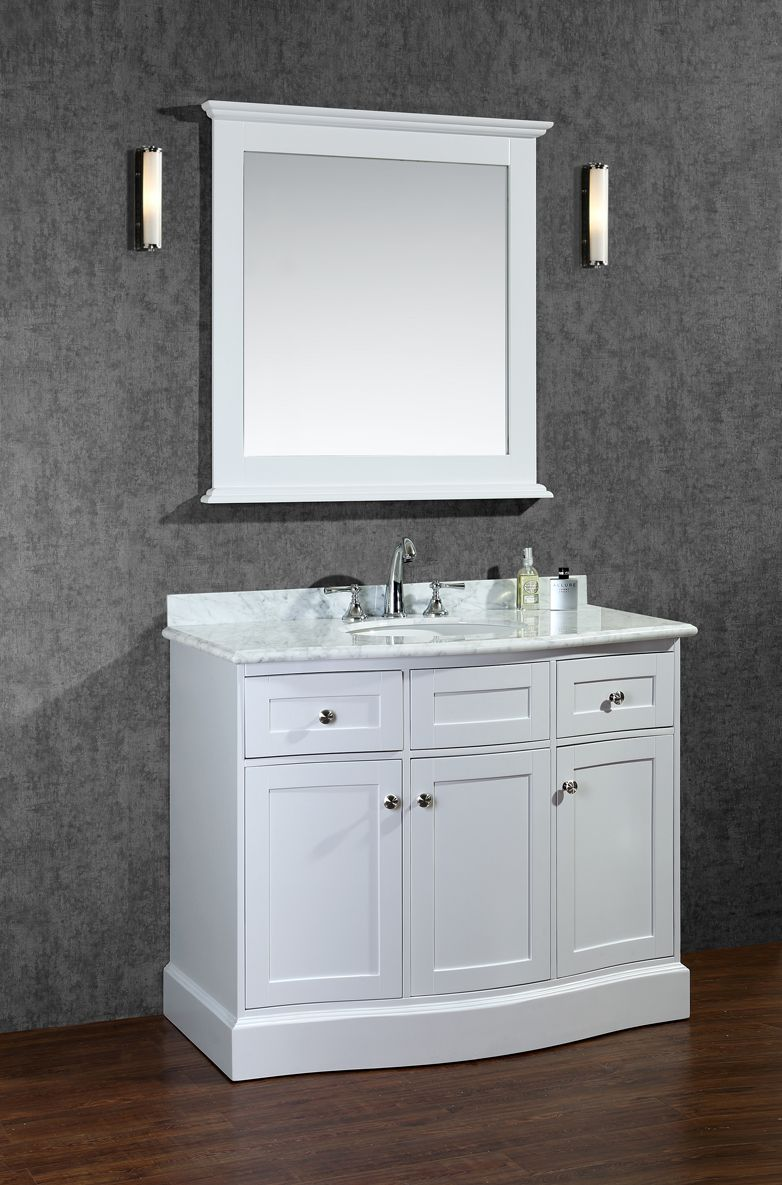 Ariel Montauk 42 Single Sink Bathroom Vanity Set With Mirror Drawing Design Cues From Traditional Hampton Architecture This Our