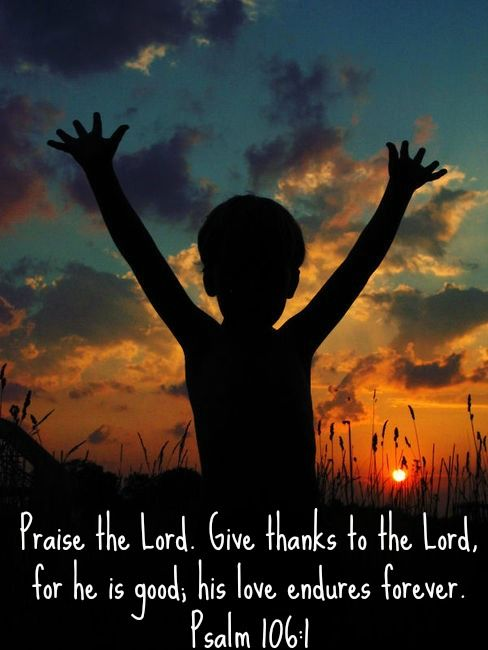 Praise The Lord Give Thanks To The Lord For He Is Good His Love