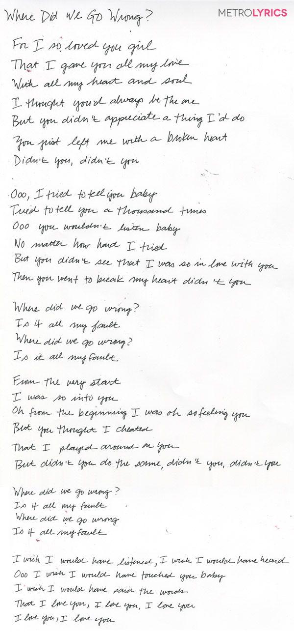 I did you wrong you did me wrong lyrics
