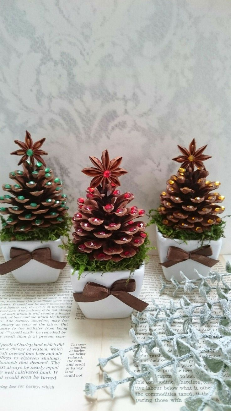 Tannenbaum auf Holz      CraftIdea Org  craftIdea org is part of Pine cone christmas decorations -