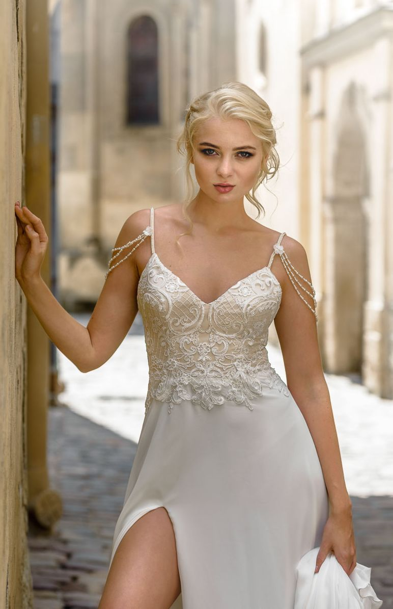 Wedding dress abby boho wedding dress lace wedding dress