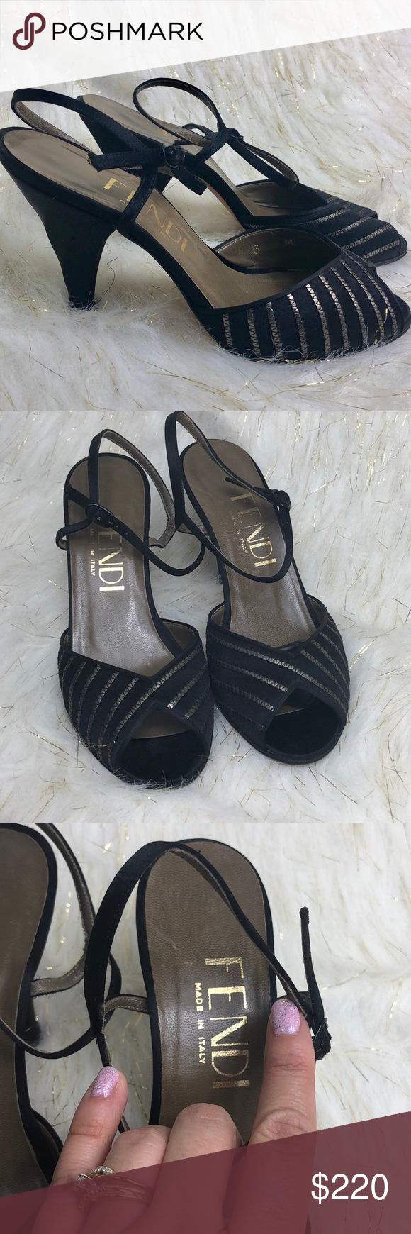 b5a92ff6bc33 Spotted while shopping on Poshmark  FENDI Vintage ankle strap heels!   poshmark  fashion  shopping  style  Fendi  Shoes