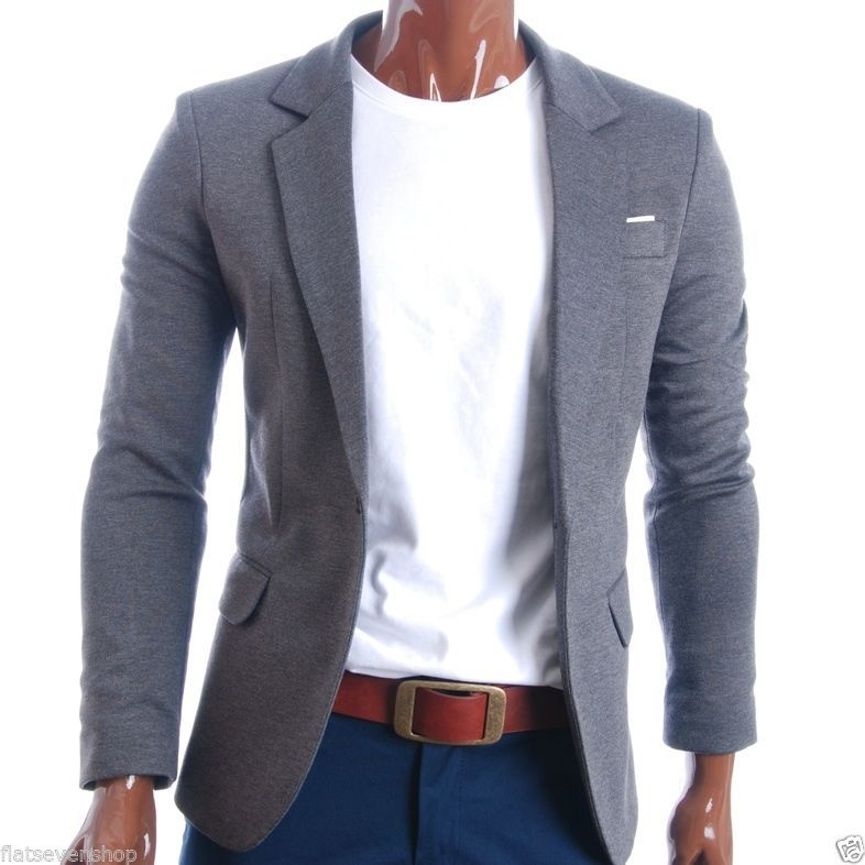 Details about FLATSEVEN Mens Designer Slim Fit Casual Blazer Sport ...