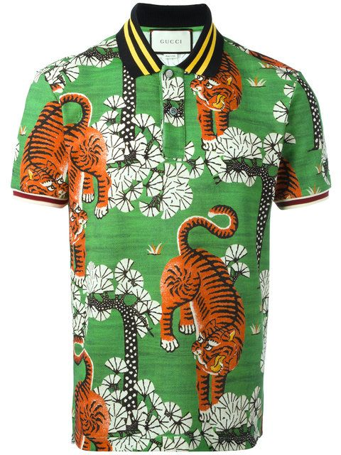2d160639 GUCCI Bengal print polo shirt. #gucci #cloth #shirt | Gucci Men in ...