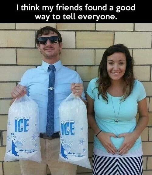 Funny and crazy announcement: Ice Ice Baby!
