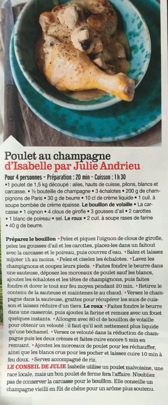 Poulet au champagne
