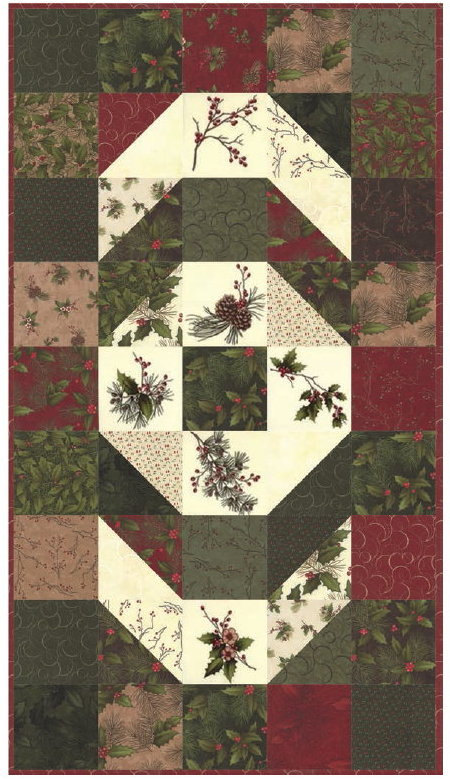 Winter S Song Table Runner Quilt Kit Quilt Book Moda Fabric By