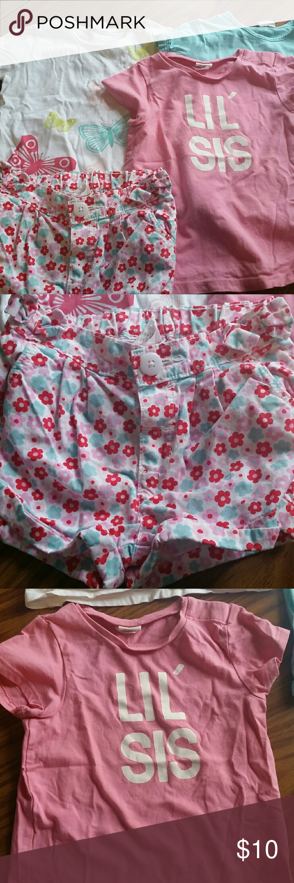H&M Baby Girl Lot Shirts are 6-12m Shorts are 6-9m H&M Shirts & Tops