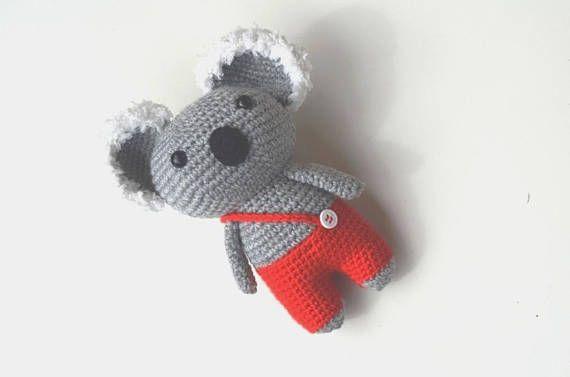 Koala Crochet Pattern Koala In Red Pants Koala Amigurumi Pdf