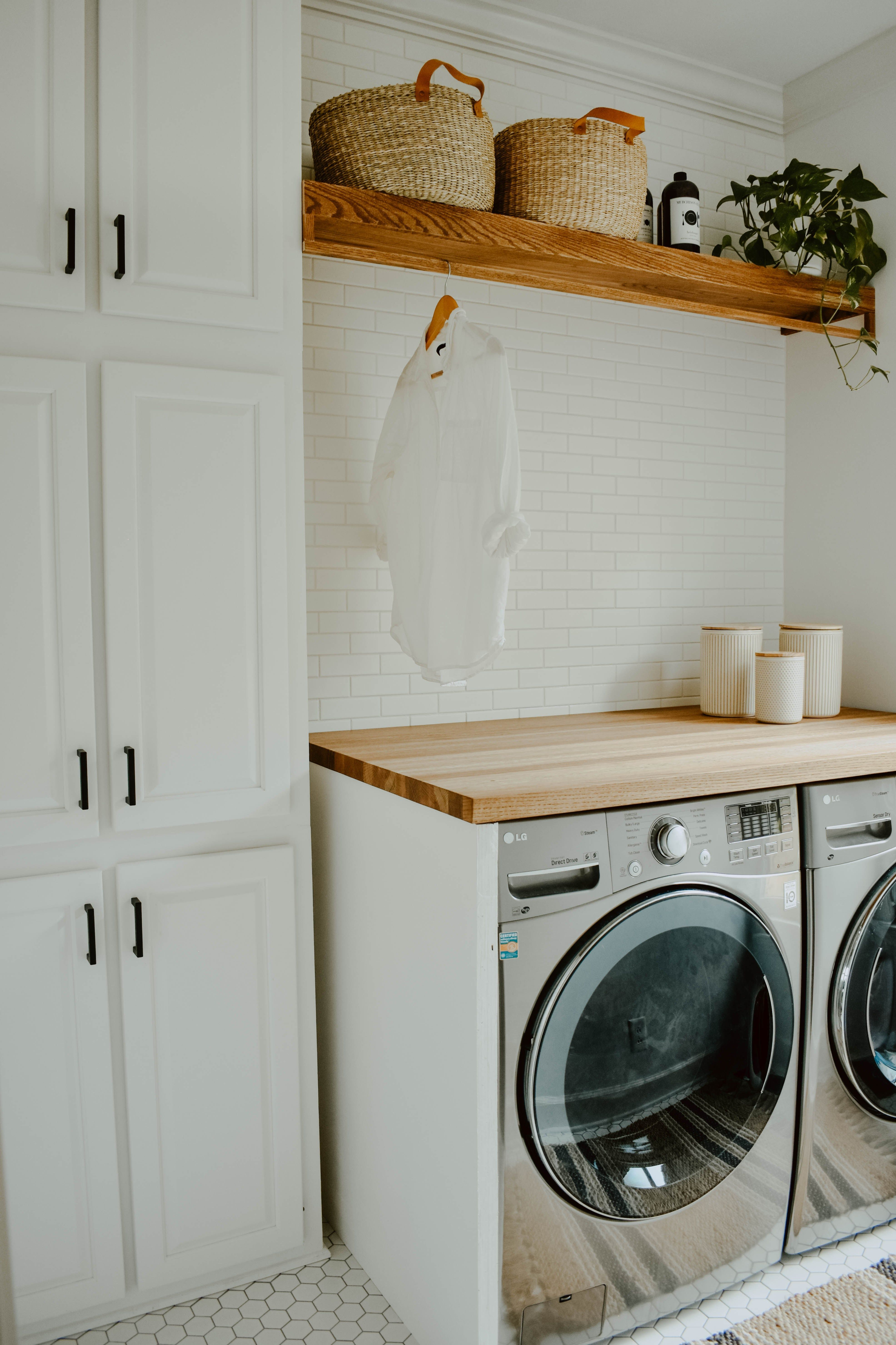 Photo of Neutral Laundry Room Remodel – House On Longwood Lane