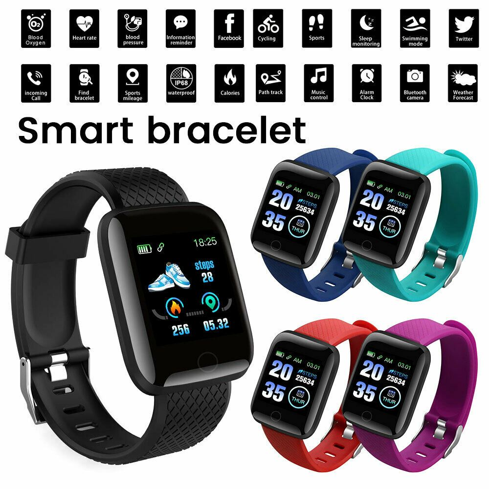Waterproof Sport Smart Watch Bracelet Heart Rate Blood Pressure Fitness Tracker - Fitness Watch - Id...
