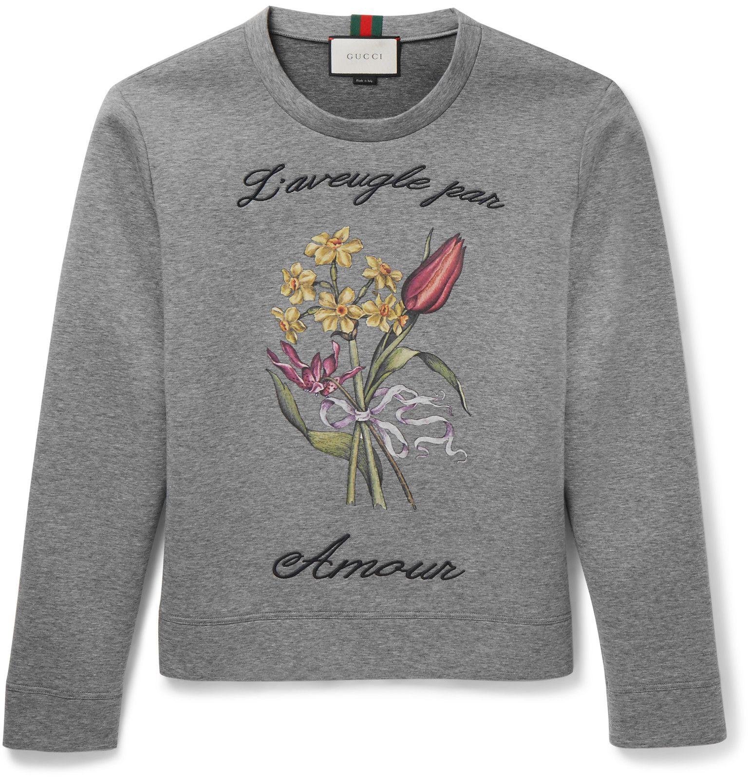 Gucci - Embroidered Cotton Sweatshirt