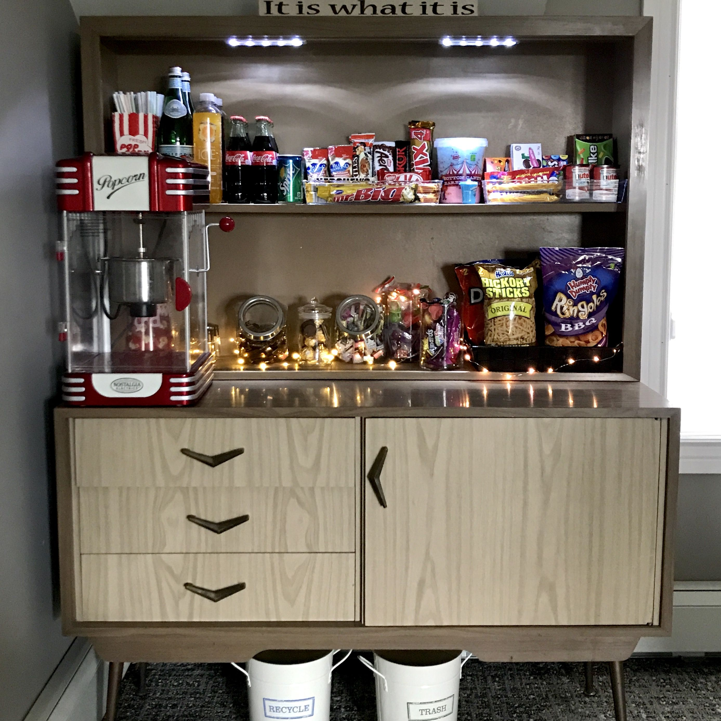 Modern Home Theatre Ideas: Cute Home Theatre Movie Night Concessions Stand, On Mid