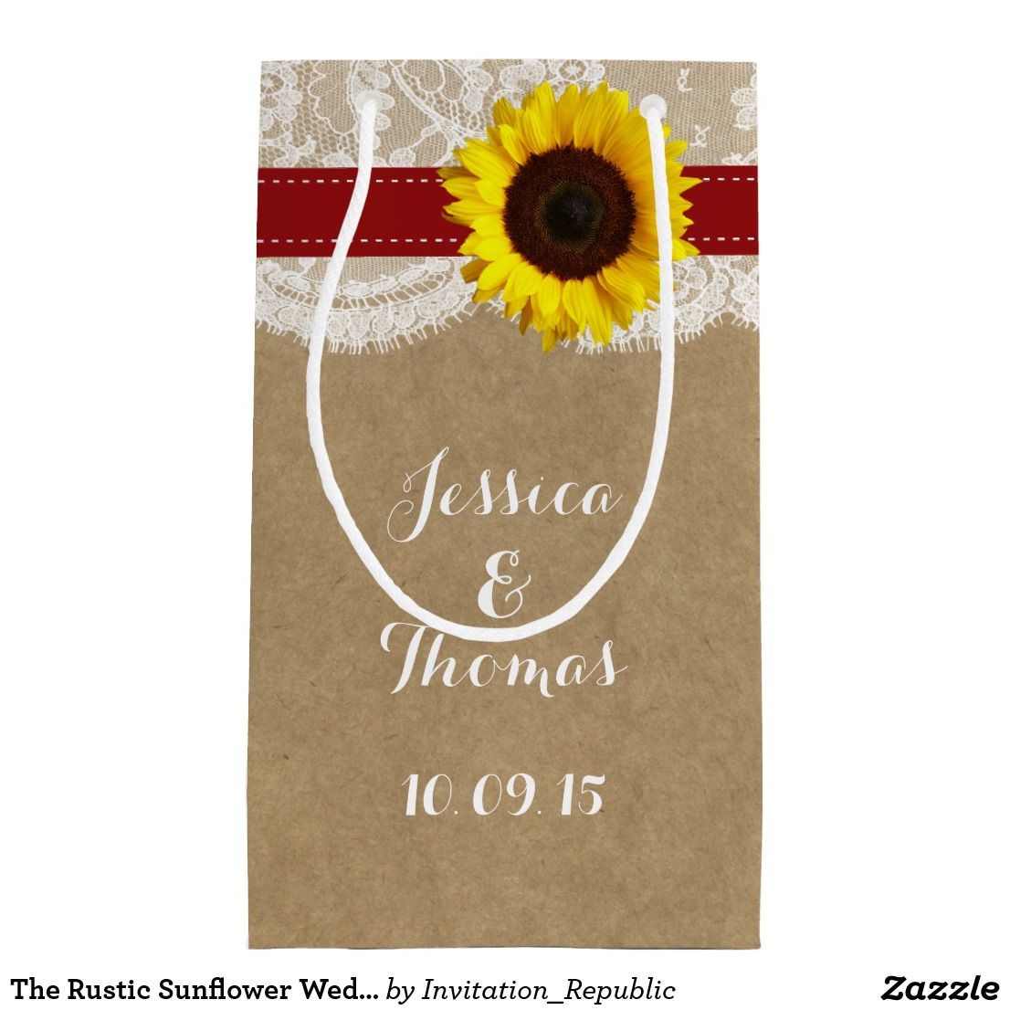 The Rustic Sunflower Wedding Collection Red Small Gift