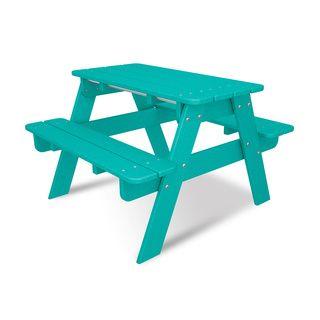 Polywood Kids Picnic Table Aruba Yellow Kids Picnic Picnic - Polywood kids picnic table