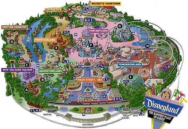 disney land orlando map Map Of Disneyland California Vacations Now Disneyland Map disney land orlando map