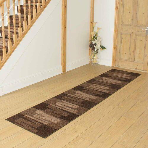 Wood Teppich Angelique In Dunkelbraun Modernmoments Teppichgrosse Laufer 100 X 540 Cm In 2020 Hallway Carpet Runners Carpet Size Rug Runner Hallway