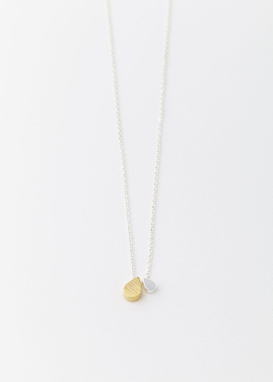 Droplet necklace   Simple silver necklace   Room 356   Drop ...