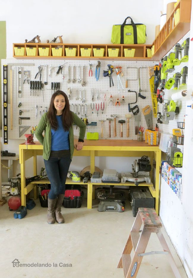 How To Install A Pegboard Garage Organization Mccauley