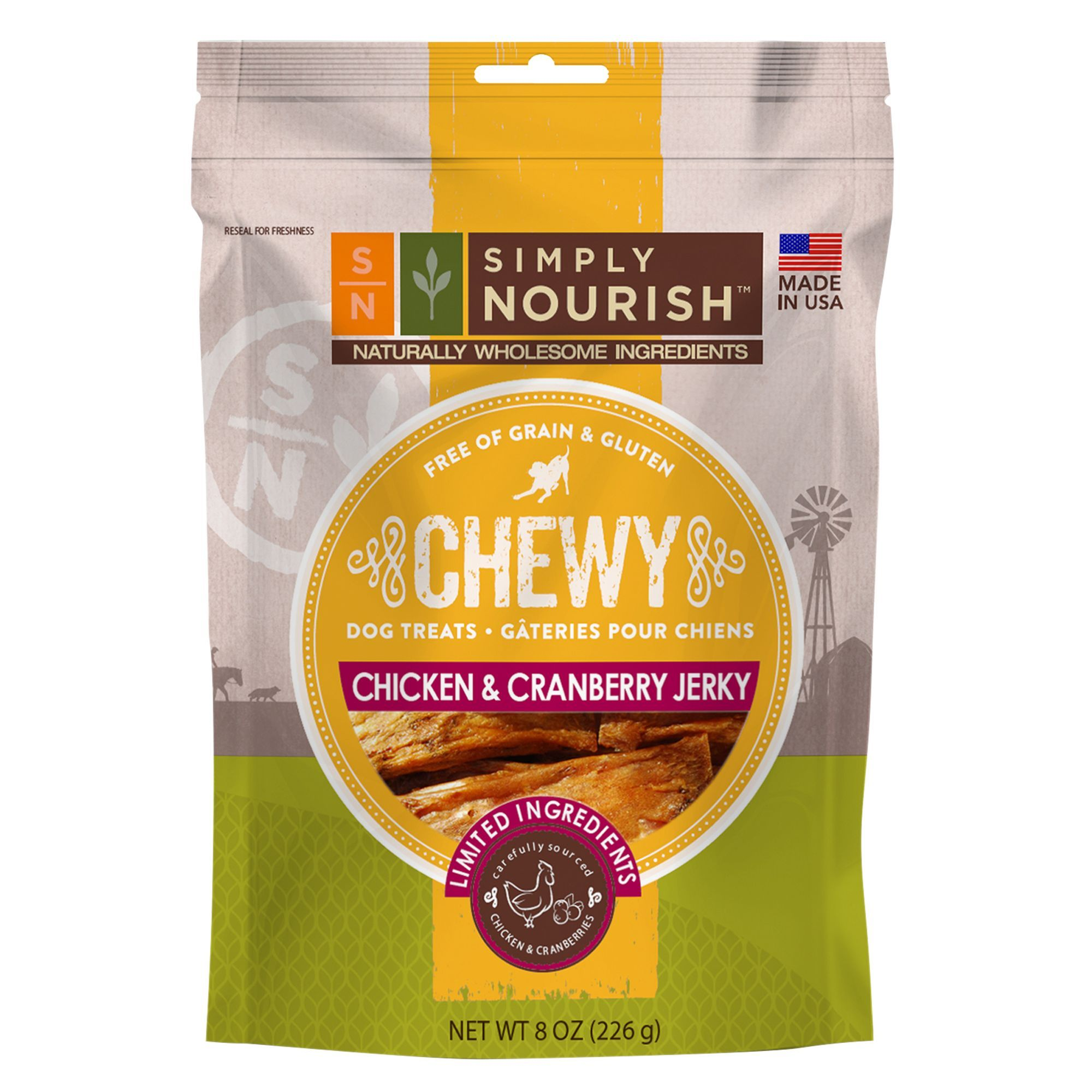 Simply Nourish Chewy Jerky Dog Treat Natural Grain Free