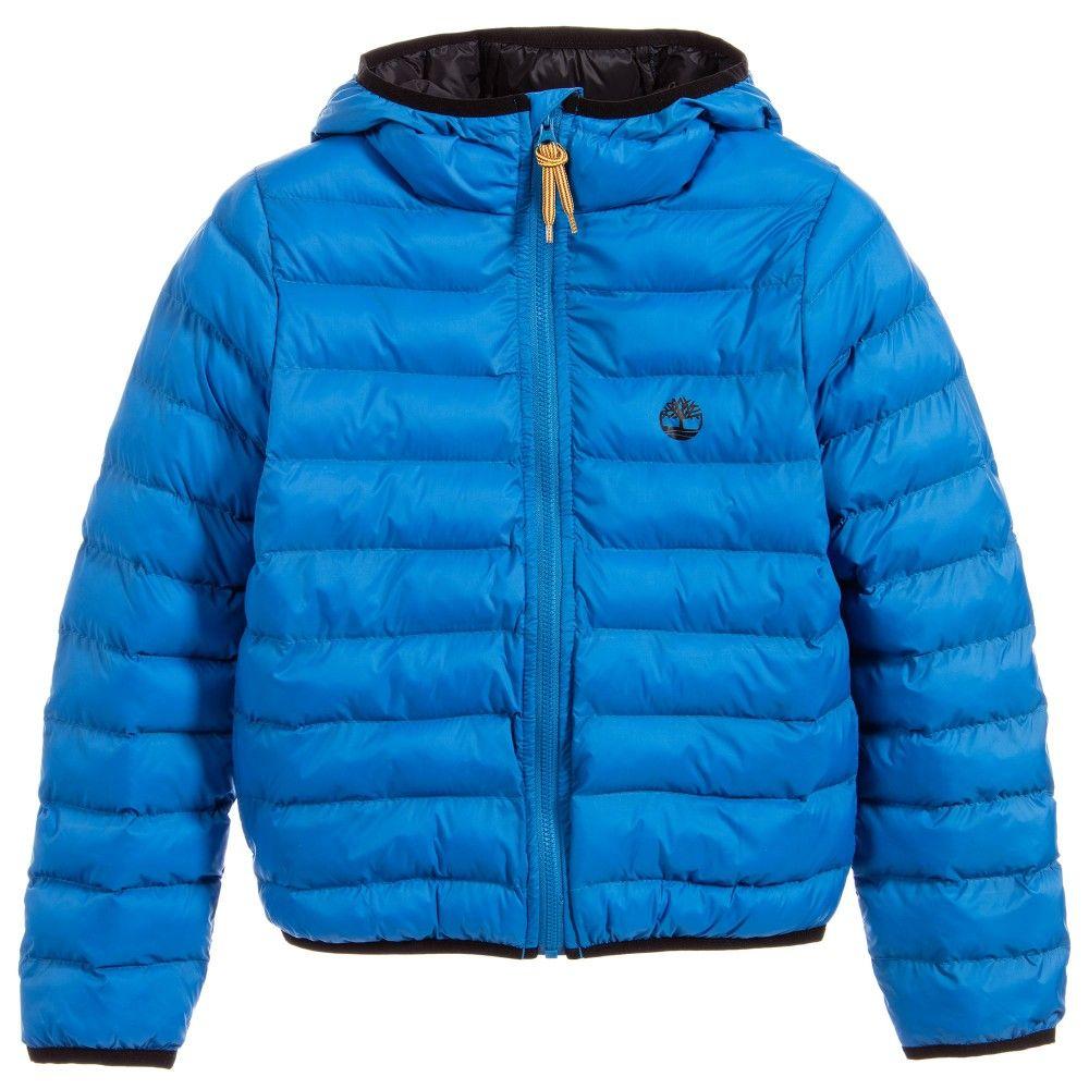 b3932ae20 Timberland Boys Blue Padded Puffer jacket at Childrensalon.com ...