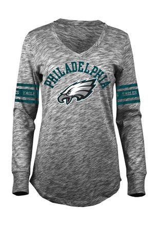 b2ab53065bdf Philadelphia Eagles Womens Grey Relaxed T-Shirt