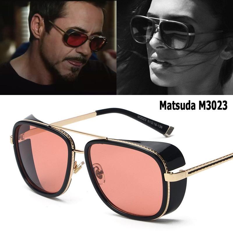 Iron Man Steampunk Classic Sunglasses Mens Ladies Vintage Retro Mirrored Black