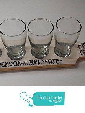 Personalized Home Brew Beer Flight Paddles with 5oz Taster Glasses from Primitive Country Loft House https://www.amazon.com/dp/B01LX4CS59/ref=hnd_sw_r_pi_awdo_8jAlybRA9WFRH #handmadeatamazon