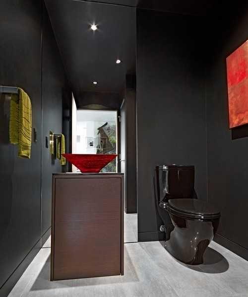 Photo of Black Bathroom Fixtures and Decor Keeping Modern Bathroom Design Elegant