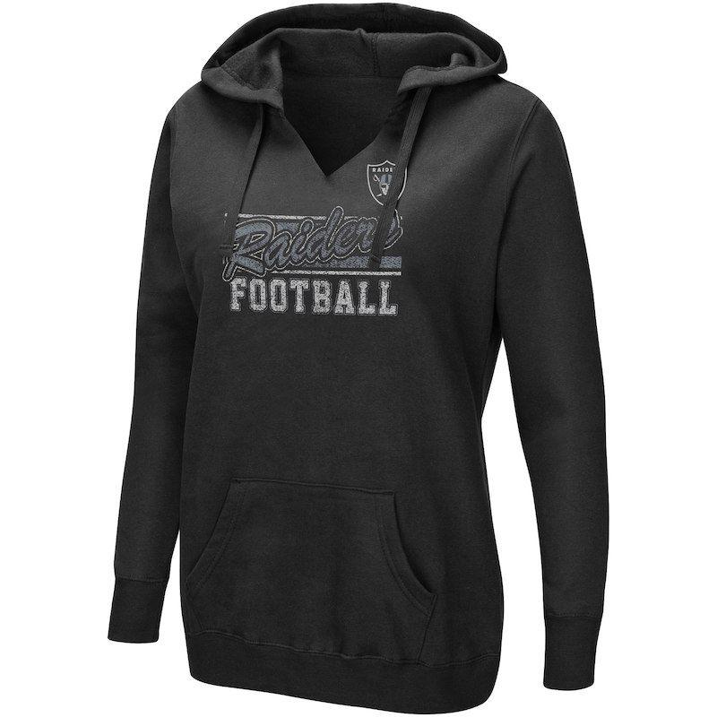 50210951fa6 Oakland Raiders Majestic Women's Quick Out Plus Size Pullover V-Neck ...