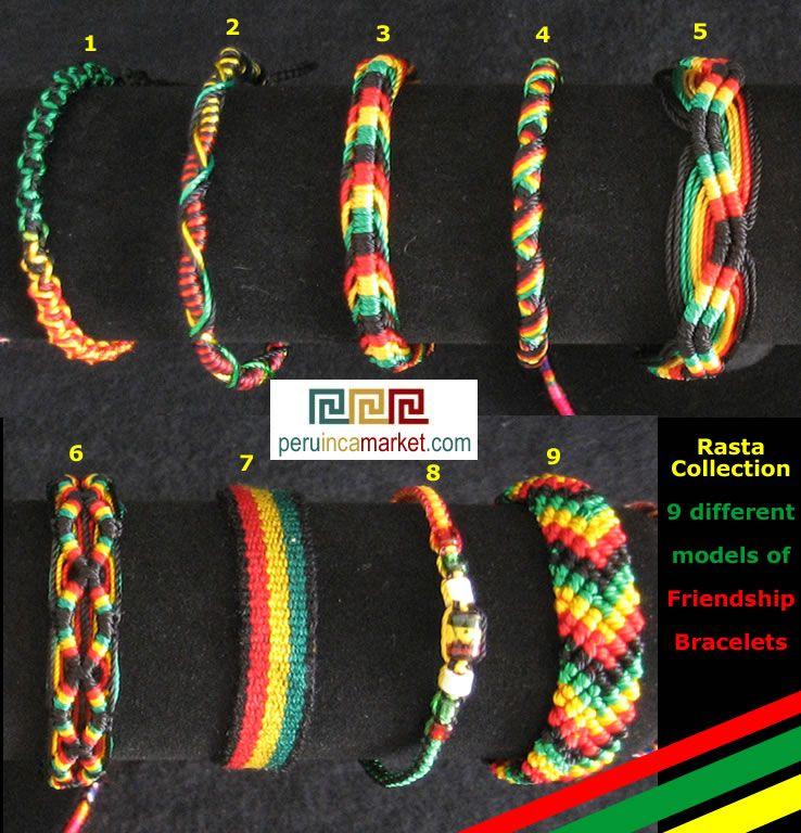 1000 Rasta Friendship Bracelets 9 Diffe Styles Mix Jamaica Bob