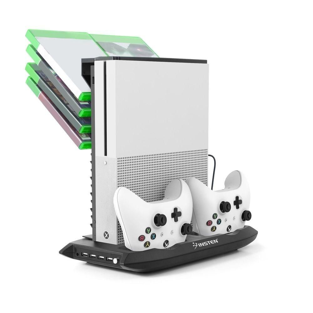 Insten Vertical Stand Dual Controller Charging Station Dock With