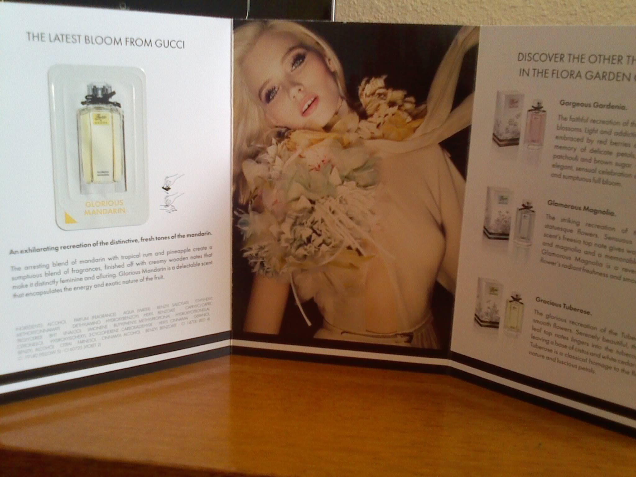 A sample of Flora by GUCCI!