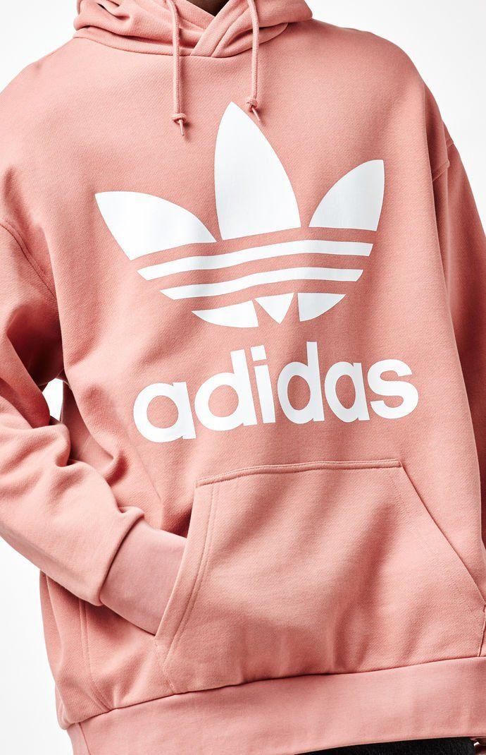 adidas Originals Oversize Trefoil Hoodie | Orange