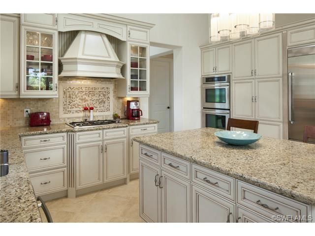 Naples Hot Properties - Traditional kitchen - glazed cabinets ...