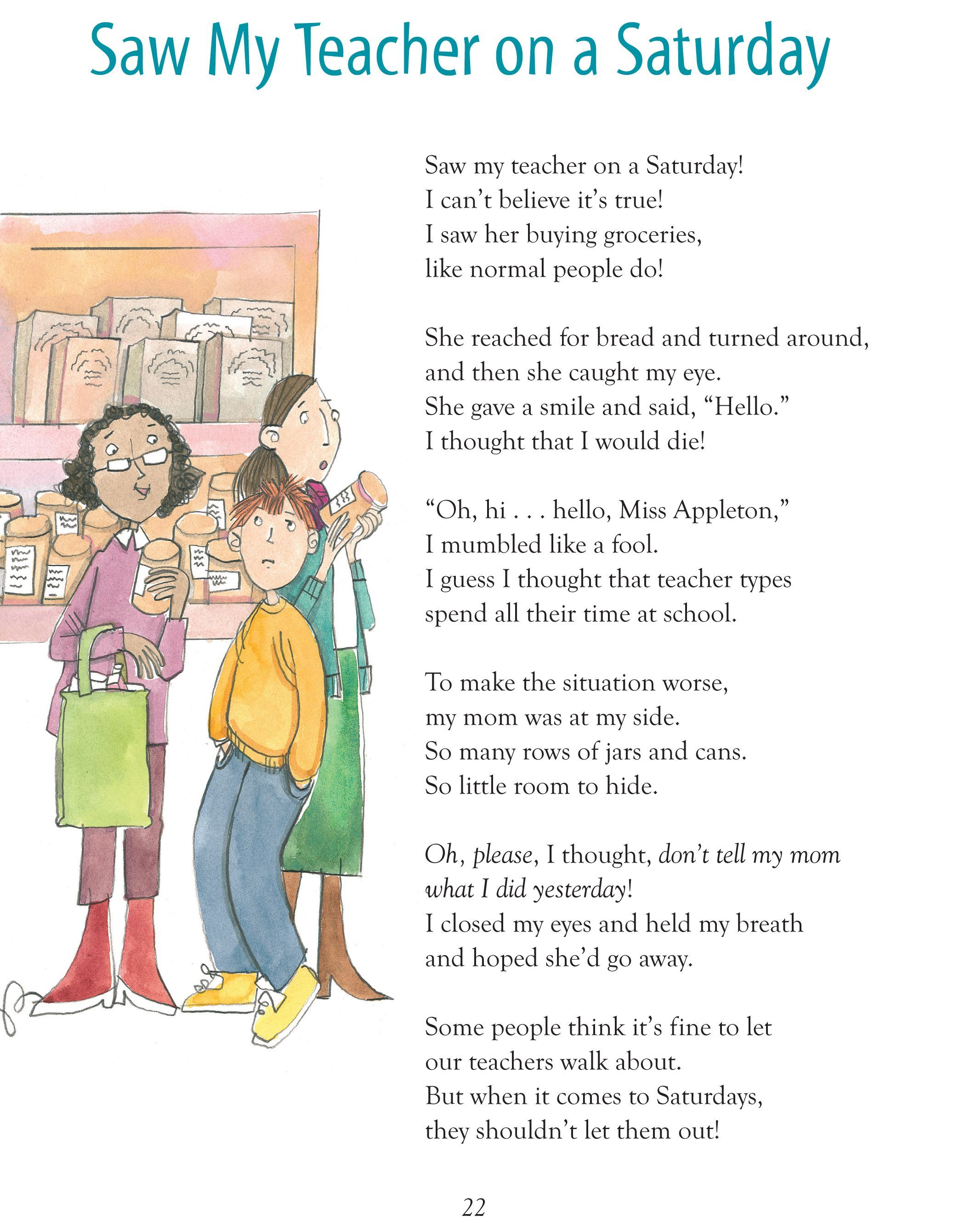 Humorous Poems For 4th Graders