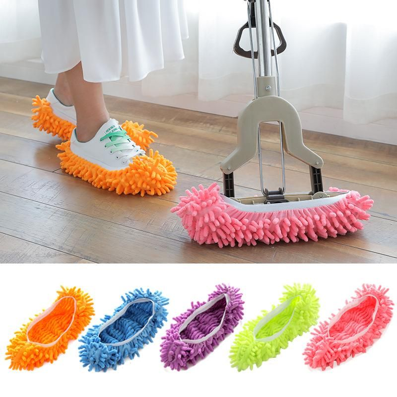 Floor Dust Microfiber Cleaning Slipper Lazy Shoes Cover